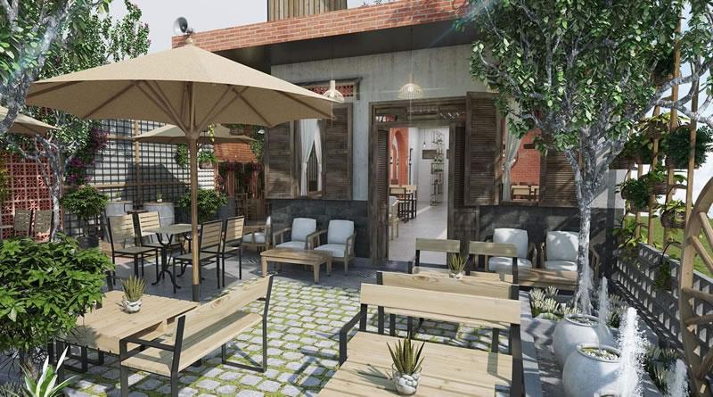 Thiết kế quán cafe Coffee sân vườn tại Đồng Hới Quảng Bình