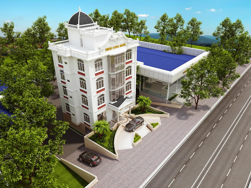 Thiết kế khách sạn đẹp tại Hà Tĩnh