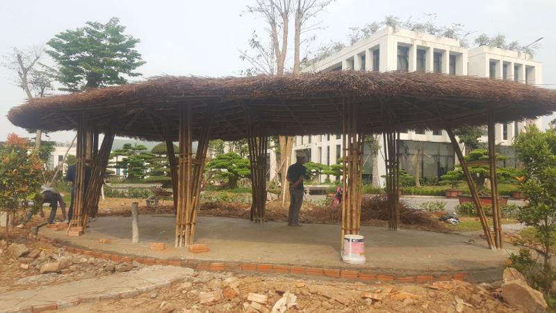 Thi công nhà tranh tre nứa mét, mái lá đẹp TP Vinh Nghệ An