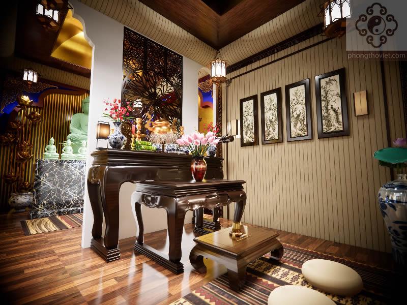 Thiết kế thi công nội thất phòng thờ TP Vinh Nghệ An