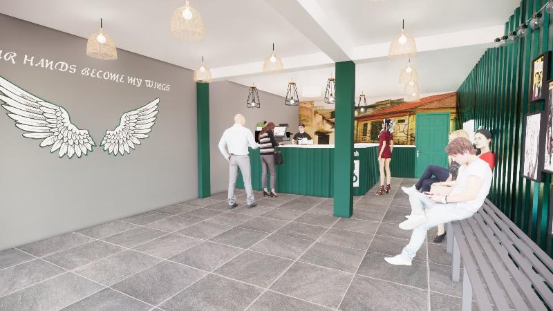 Thiết kế thi công quán trà chanh Bụi Phố Quỳnh Lưu